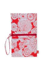 Zipper Purse Floral Mandarin_01