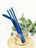 Stainless Steel Straws - blue